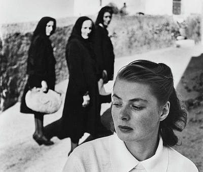 Ingrid Bergman In Italy For Stromboli Art Print by Gordon Parks