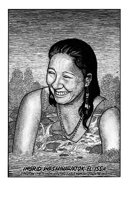 Ingrid Washinawatok El-issa Art Print by Ricardo Levins Morales