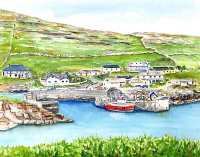 Painting - Inishturk Island Ireland by CarlinArt Watercolor