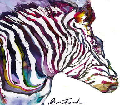 Wall Art - Painting - Inky Zebra by Alexis Bonavitacola