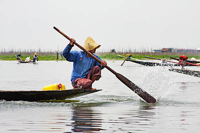 Photograph - Inle Lake's Fisherman 3 by Mache Del Campo
