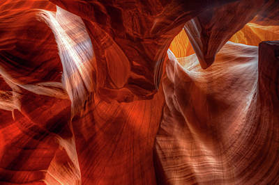 Photograph - Inner Lights Of Antelope Canyon by Gregory Ballos