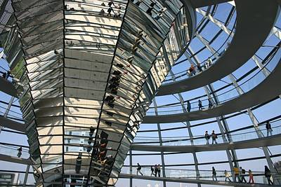 Photograph - Inside Berlin Reichstag Dome by Herpens