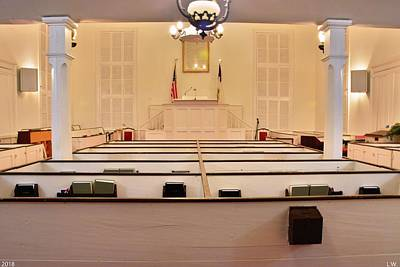 Photograph - Inside Gillisonville Baptist Church Ridgeland South Carolina 2 by Lisa Wooten