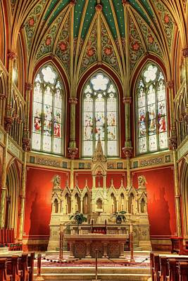 Photograph - Inside The Cathedral Of St. John The Baptist  by Carol Montoya