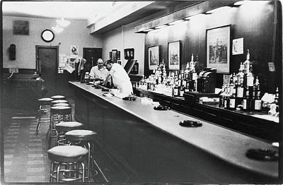 Two People Photograph - Inside The Cedar Street Tavern by Fred W. McDarrah