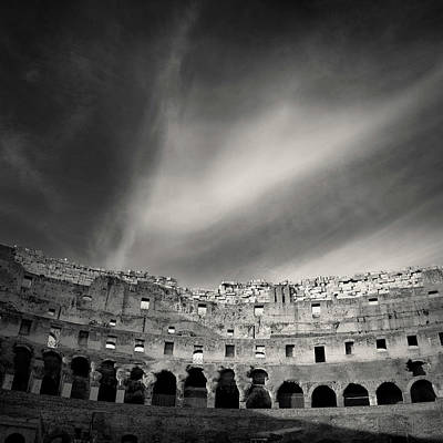 Photograph - Inside The Colosseum by Dave Bowman