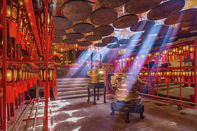 Inside The Man Mo Temple,hong Kong Art Print by Photography By Sanchai Loongroong