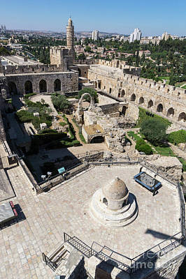 Photograph - Inside The Walls Of The Jerusalem Citadel, Or The Tower Of David by William Kuta