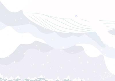 Illustration Digital Art -  Winter Messenger by Hiki