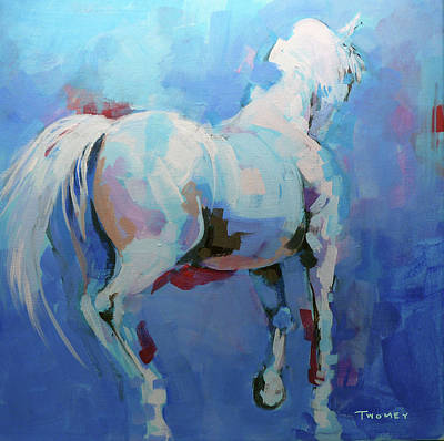 Dressage Wall Art - Painting - Instinctual Pirouette, The Horse's Mind by Catherine Twomey