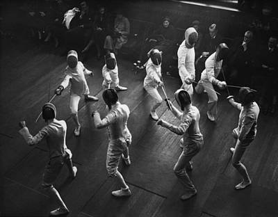 Photograph - Inter-varsity Fencing by E Dean