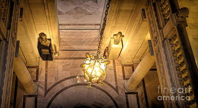 Photograph - Interior Architecture City Hall San Francisco  by Chuck Kuhn