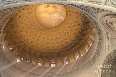 Photograph - Interior Architecture Dome City Hall San Francisco  by Chuck Kuhn