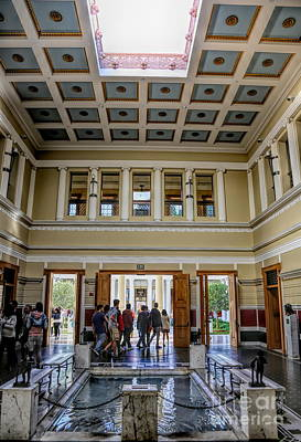Photograph - Interior Color J Paul Getty Villa Santa Monica California  by Chuck Kuhn