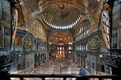 Photograph - Interior, Hagia Sophia Museum by Ian Robert Knight