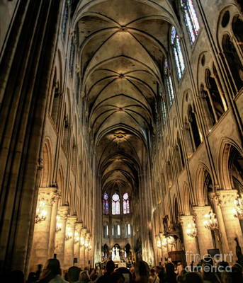 Photograph - Interior Hd Notre Dame Cathedral Paris  by Chuck Kuhn
