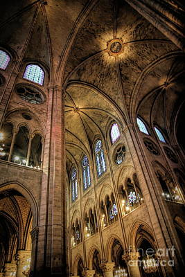 Photograph - Interior Notre Dame Hd Paris  by Chuck Kuhn