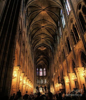 Photograph - Interior Notre Dame Paris  by Chuck Kuhn
