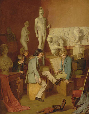Painting - Interior Of An Academy - The Critics by William Stewart