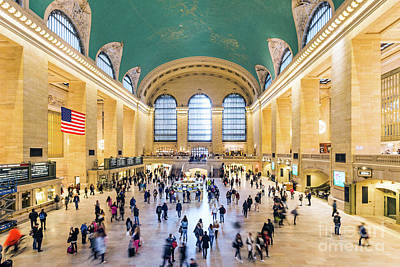 Photograph - Interior Of Grand Central Station, New York City, Usa by Matteo Colombo