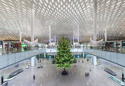 Photograph - Interior Of The New Shenzen Airport by Martin Puddy