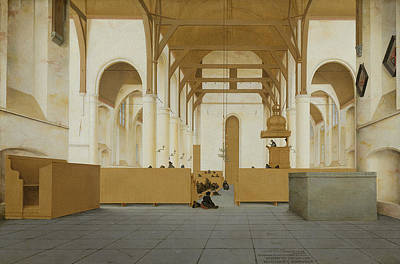 Painting - Interior Of The Sint-odulphuskerk In Assendelft by Pieter Jansz Saenredam