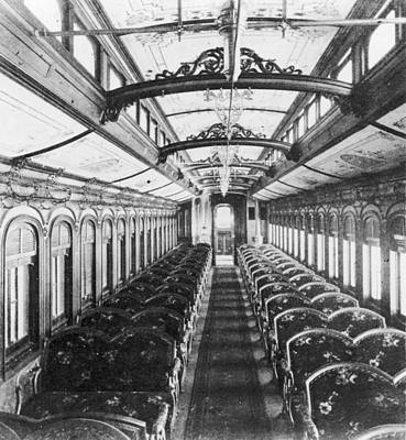 Photograph - Interior Of Train Coach by Fotosearch