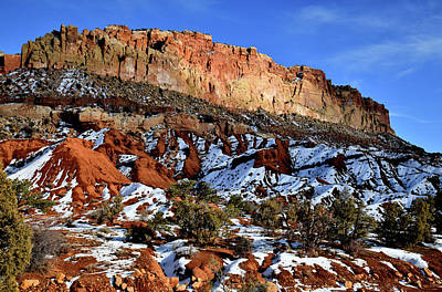 Photograph - Intermittent Sunlight On Capitol Reef Along Scenic Drive by Ray Mathis