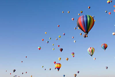 Flying Photograph - International Balloon Fiesta by Prmoeller