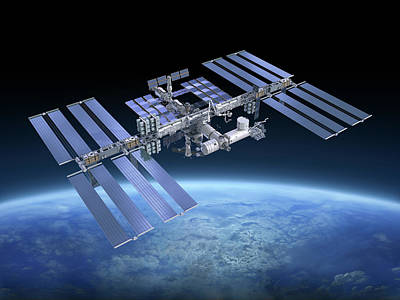 Photograph - International Space Station Iss by Scibak
