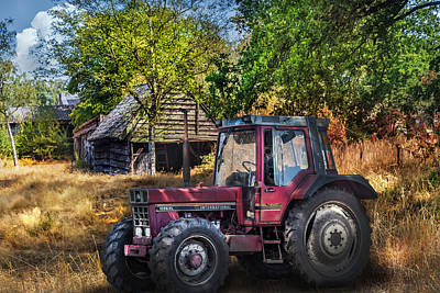 Photograph - International Tractor On The Farm by Debra and Dave Vanderlaan