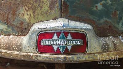 Photograph - International Truck Hood Ornament Signage Art by Reid Callaway