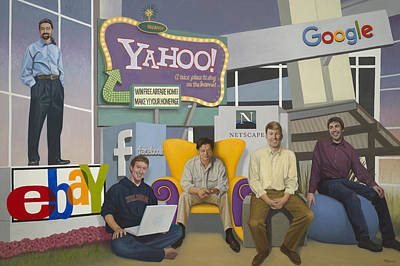 Wall Art - Painting - Internet Commerce Pioneers Of Silicon Valley by Terry Guyer