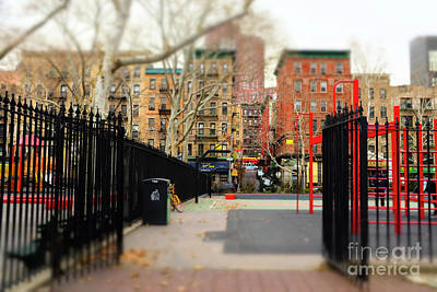 Photograph - Into Columbus Park New York City by John Rizzuto