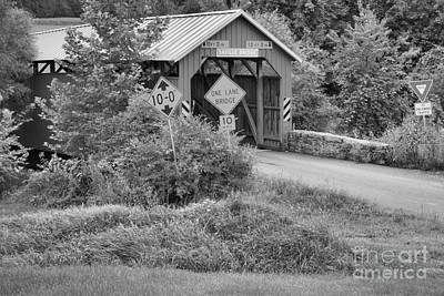 Photograph - Into The Pennsylvania Countryside Black And White by Adam Jewell