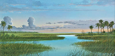 Painting - Intracoastal Sunset by Mike Brown