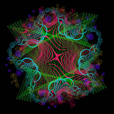 Digital Art - Intraction by Andrew Kotlinski