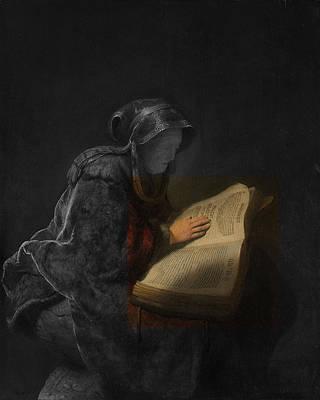 Digital Art - Inv Blend 5 Rembrandt by David Bridburg