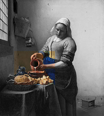 Digital Art - Inv Blend 8 Monet by David Bridburg