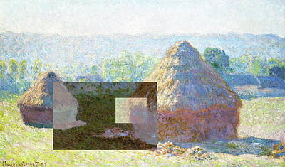Digital Art - Inv Blend 9 Monet by David Bridburg