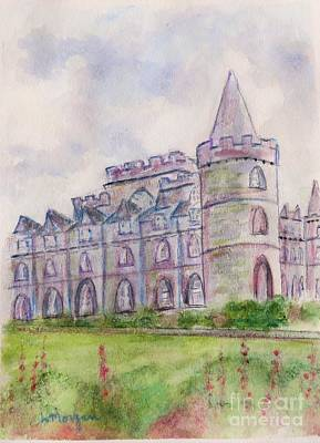 Painting - Inverary Castle by Laurie Morgan