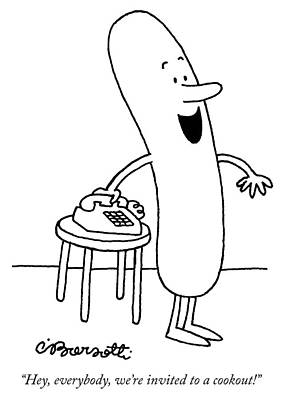 Drawing - Invited To A Cookout by Charles Barsotti