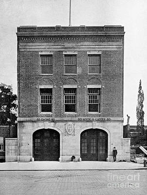 Photograph - Inwood Firehouse 1918 by Cole Thompson
