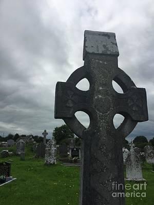Photograph - Ireland Gravestone by Suzanne Lorenz