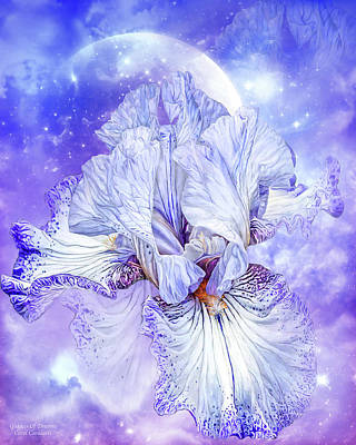 Mixed Media - Iris - Goddess Of Dreams by Carol Cavalaris