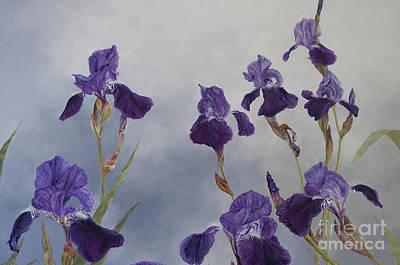 Painting - Iris Hybrida  Detail, 2015 by Odile Kidd