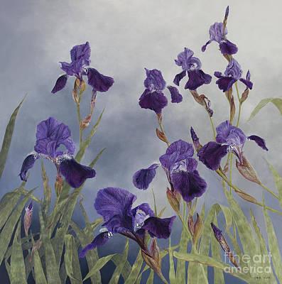 Painting -  Iris Hybrida  by Odile Kidd