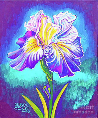 Royalty-Free and Rights-Managed Images - Iris In Violet by Genevieve Esson