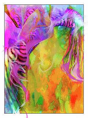Abstract Digital Art - Iris Psychedelic  by Cindy Greenstein